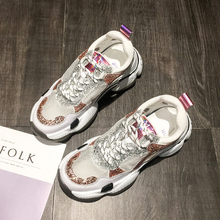 YeddaMavis Womens Shoes Sneakers Women Shoes 2019 Summer New Korean Thick-soled Daddy Shoes Lace Up Shoes Woman Zapatos De Mujer