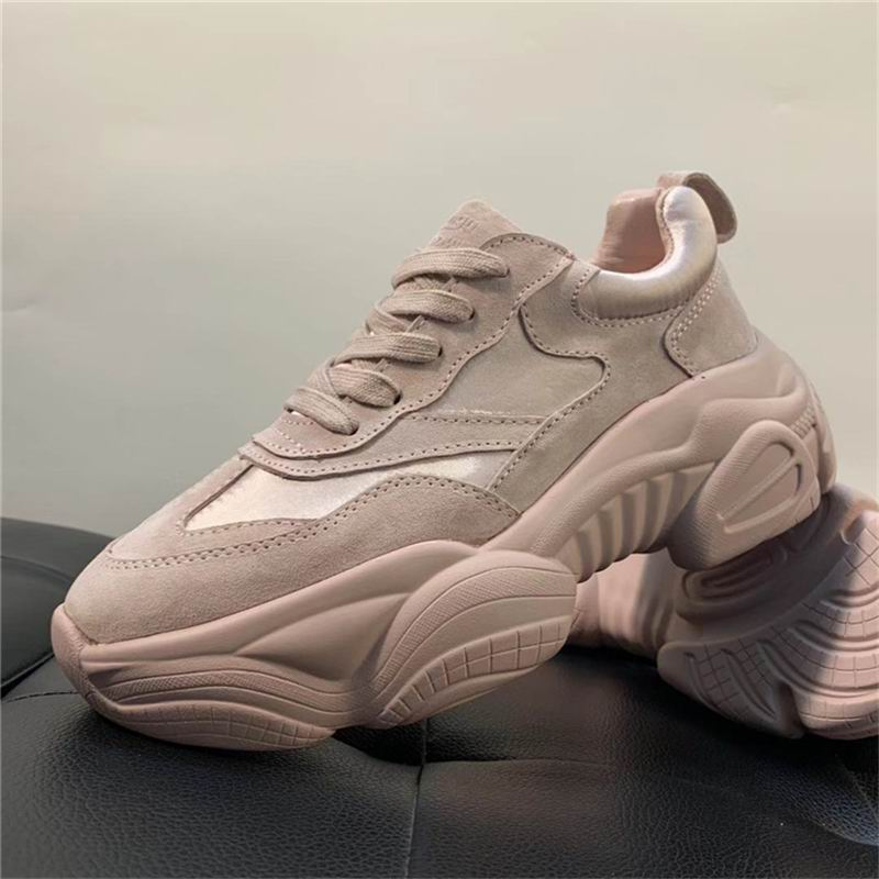 ERRFC Designer British Womens Pink Casual Shoes Flat Platform Leather With  Silk Woman Leisure Shoes 5.5 775b5d43f3f8