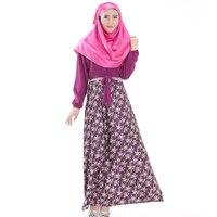 Plus Size Floral Printed Dress Islamic Dresses Long Muslim Dresses Muslim Abaya Dress Women Colored Abayas