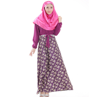 Plus Size Floral Printed Dress Islamic Dresses Long Muslim Dresses Muslim Abaya Dress Women Colored Abayas