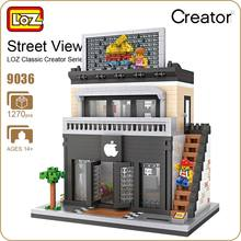 LOZ Diamond Block Street Mini Nano Building Blocks Toys For Children Shop Model Mobile Phone Shop Mini City Bricks Building 9036