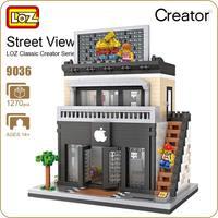 LOZ Diamante Block Strada Mini Nano Building Blocks Giocattoli Per bambini Modello Negozio Negozio di Telefonia mobile Mini Città Mattoni da Costruzione 9036
