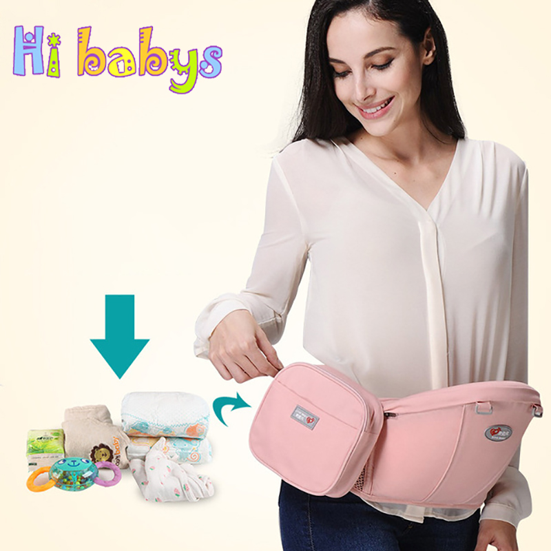 Baby Carrier Bag Mother Waist Storage Bag Nappy Bag Mom Convenient Carry Paper Towel For Supporting Infant Carrier Accessories