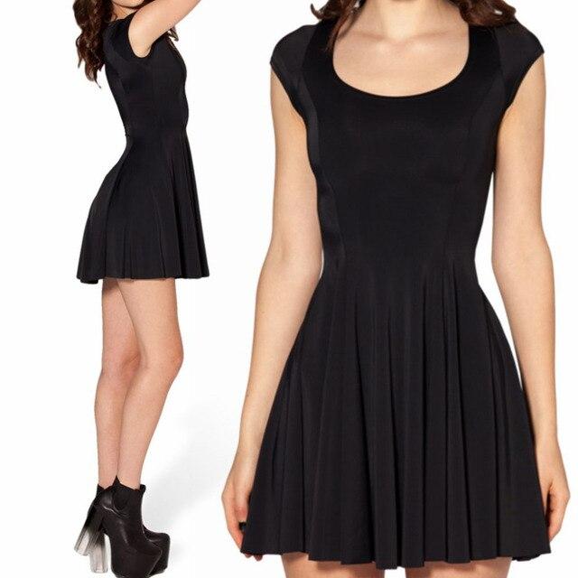 Summer Skater Dress 2014 Hot Sale New Sexy Women Summer Dresses Short  Sleeve Mini Black Skater Dresses For Women Free Shipping c503340fd