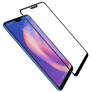 Image 1 - For xiaomi mi 8 lite glass screen protector full covered Nillkin 9H 0.33mm thin For xiaomi mi8 lite tempered glass curved 6.26