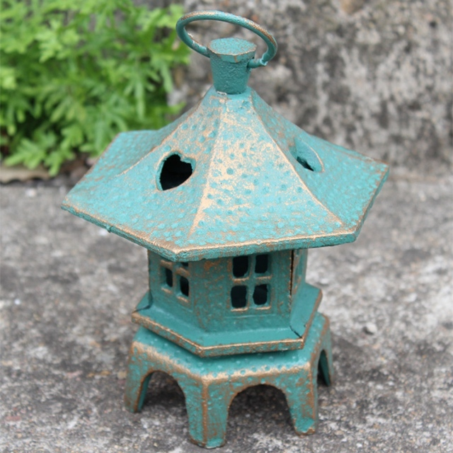 Vintage Cast Iron Hanging Garden Lantern Metal Candle Holder Home Decorations Tea Light Outdoor