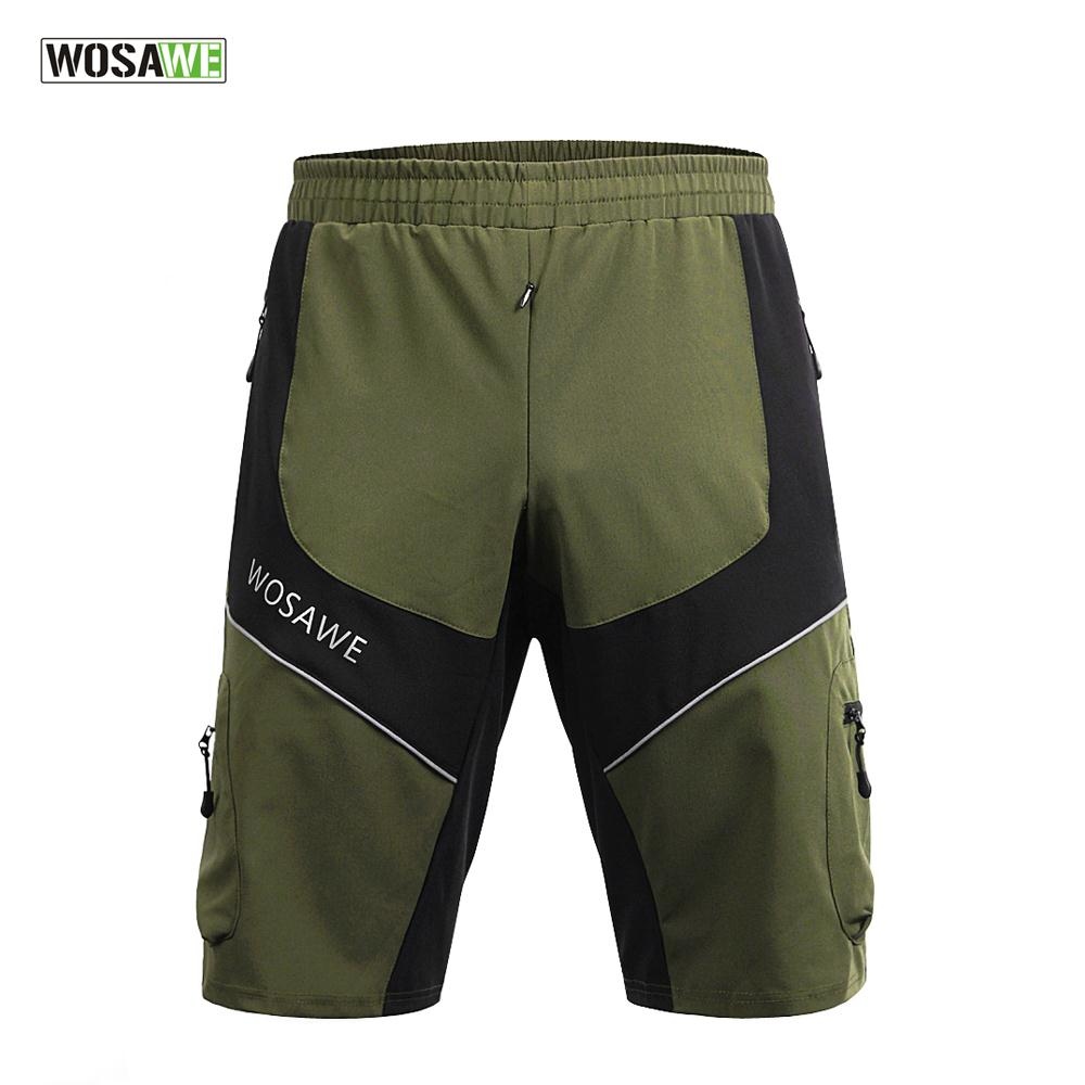 WOSAWE Men Reflective Cycling Shorts Bike Bicycle Ciclismo Short Trousers Quick Dry Shorts Clothing S-XXL wosawe new men s cycling shorts 4d padded cool gel riding bike cycling clothing