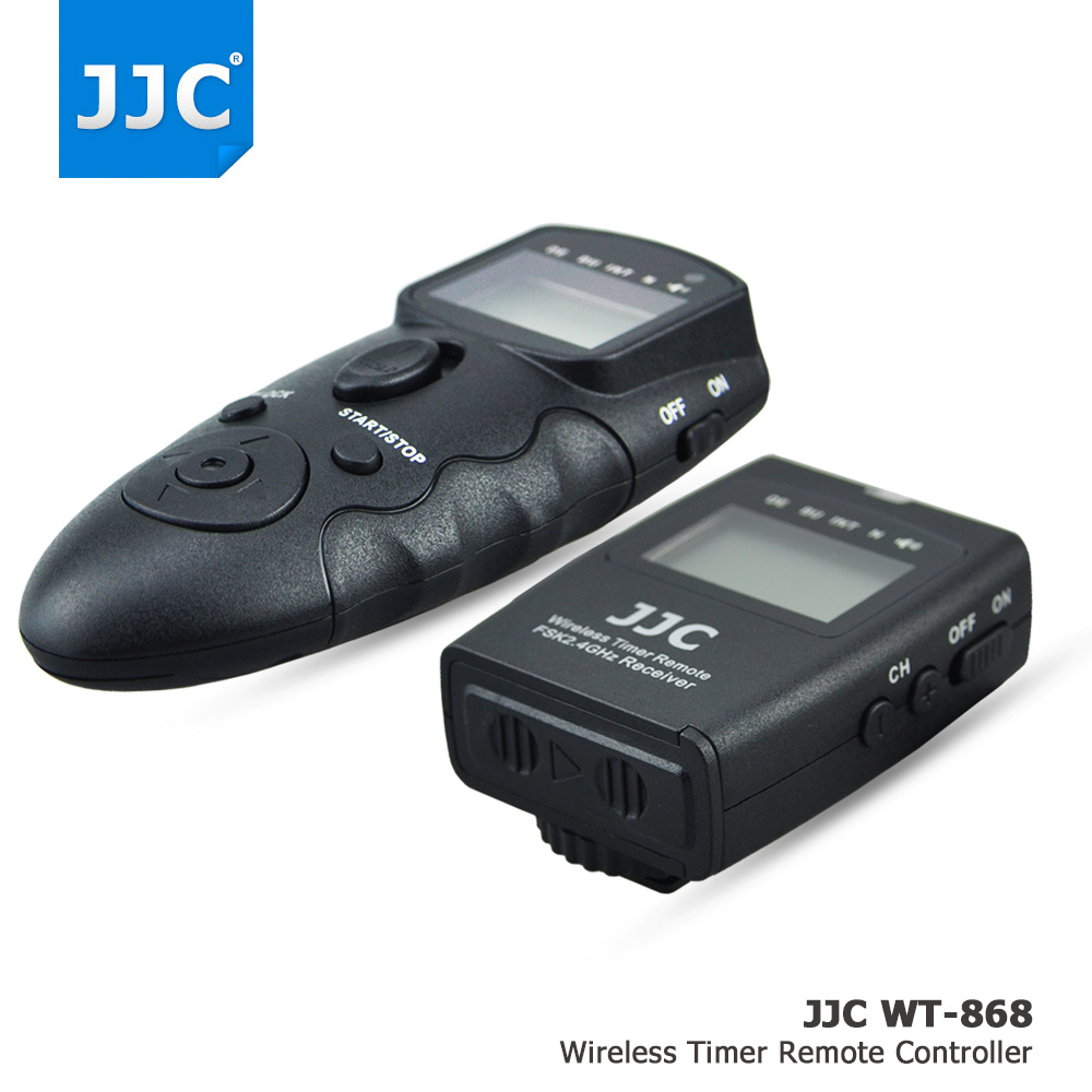 JJC Wireless Multifunction LCD Timer Remote Control For Canon 5DS R 1DC 1D 5D 7D Mark II III 6D 5D2 5D3 AS RS-80N3 TC-80N3 godox plastic wired shutter release remote cord for canon 7d 5d 5d3 5d2 more black