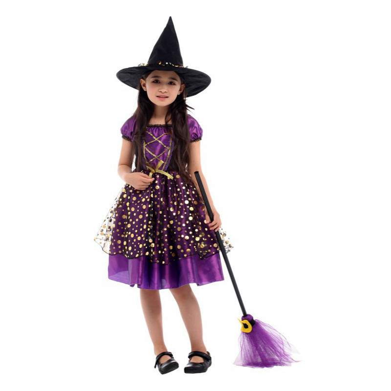 Girls Costumes Scary Halloween Costume For Kids Witch Costumes Party Cosplay Girls Princess Children Child Fancy Dress Hat Christmas Carnival As Effectively As A Fairy Does