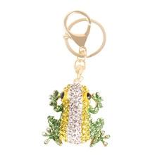Frog Keyring Charm Pendant Car-Key-Chain Rhinestone Crystal Friend Gift Birthday Lovely