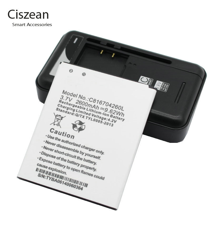 Ciszean 1x 37V 2600mAh Replacement Li ion