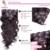 7 Unids/set Chip en la Extensión Del Pelo Brasileño de la Onda Del Cuerpo, Color #2 Clip de Cabello Natural En la Extensión Del Pelo Humano, 12-28 Pulgadas en Stock