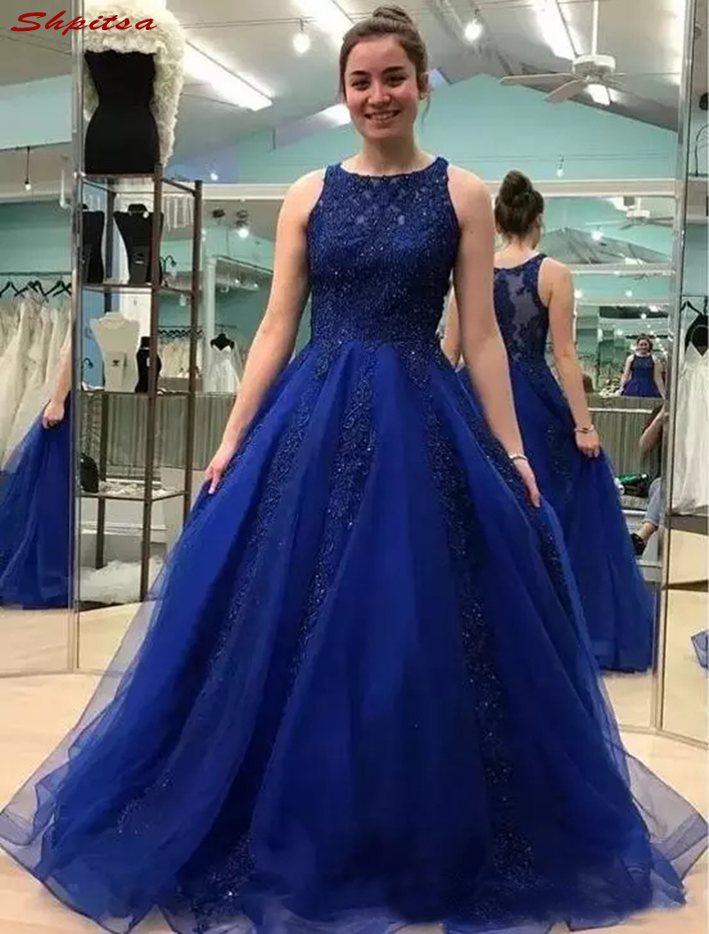 Ball Gown Mother Of The Bride Dresses For Weddings Navy Blue Prom Evening Groom Godmother Dresses