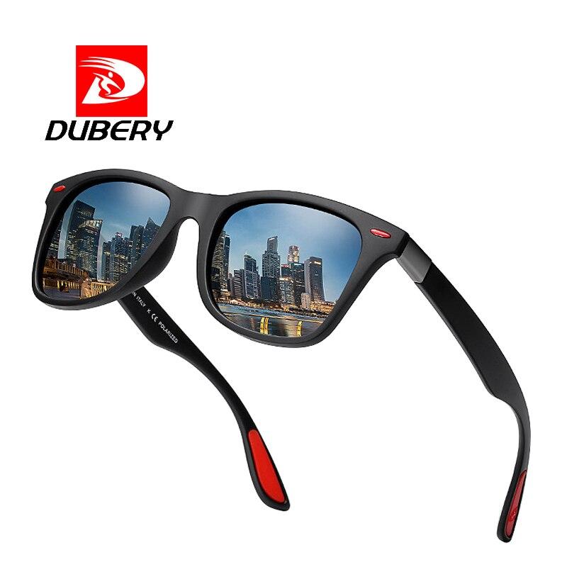 9d825d7540 Dropwow DUBERY BRAND DESIGN Polarized Sunglasses Men Women Fashion Rivet  Driving Shades Square Frame Sun Glasses Mirror UV400 Oculos P21