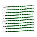 ZYHW Brand 10pcs 12V DC 15 SMD 30cm Car Truck Flexible IP67 Waterproof LED Light Strip Green