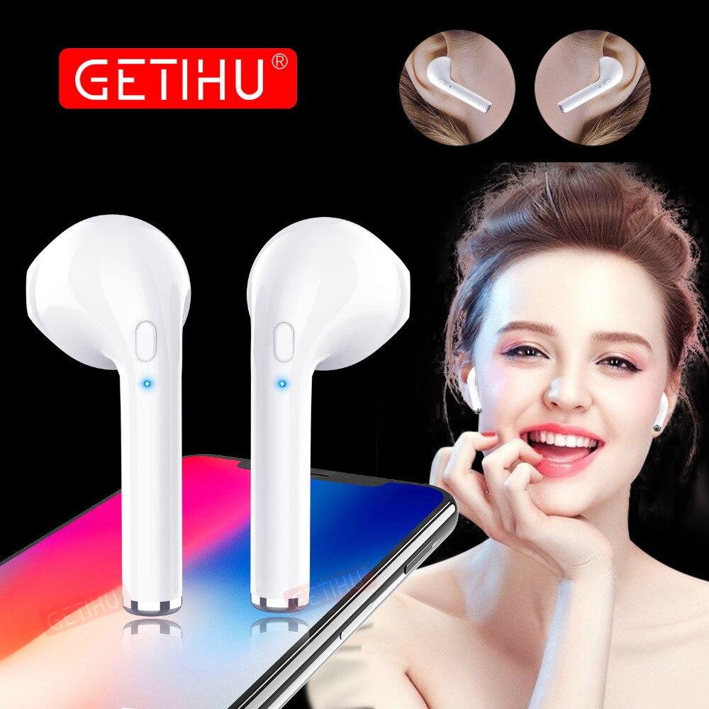 GETIHU Bluetooth Écouteurs Téléphone mini-Écouteurs Sport Casque Sans Fil stéréo Casque Mini Écouteurs Écouteur Pour iPhone Samsung