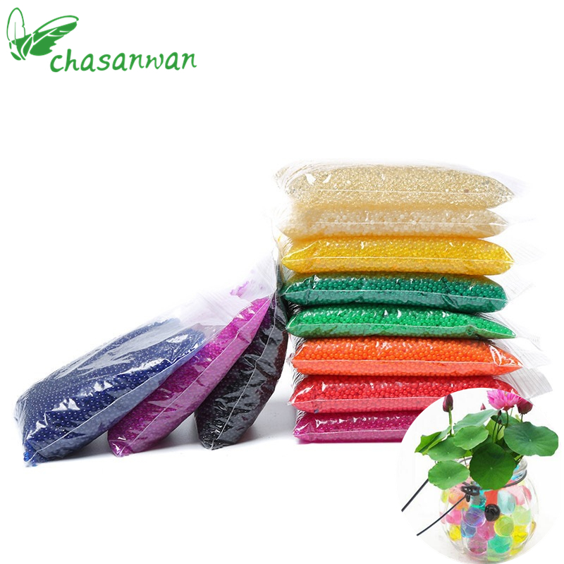 CHASANWAN 1 Packs(3000Pcs) 2.5mm Magic Mud Crystal Soil Water Beads Pearl Growing Jelly Balls Party Events Home Garden Decor,S