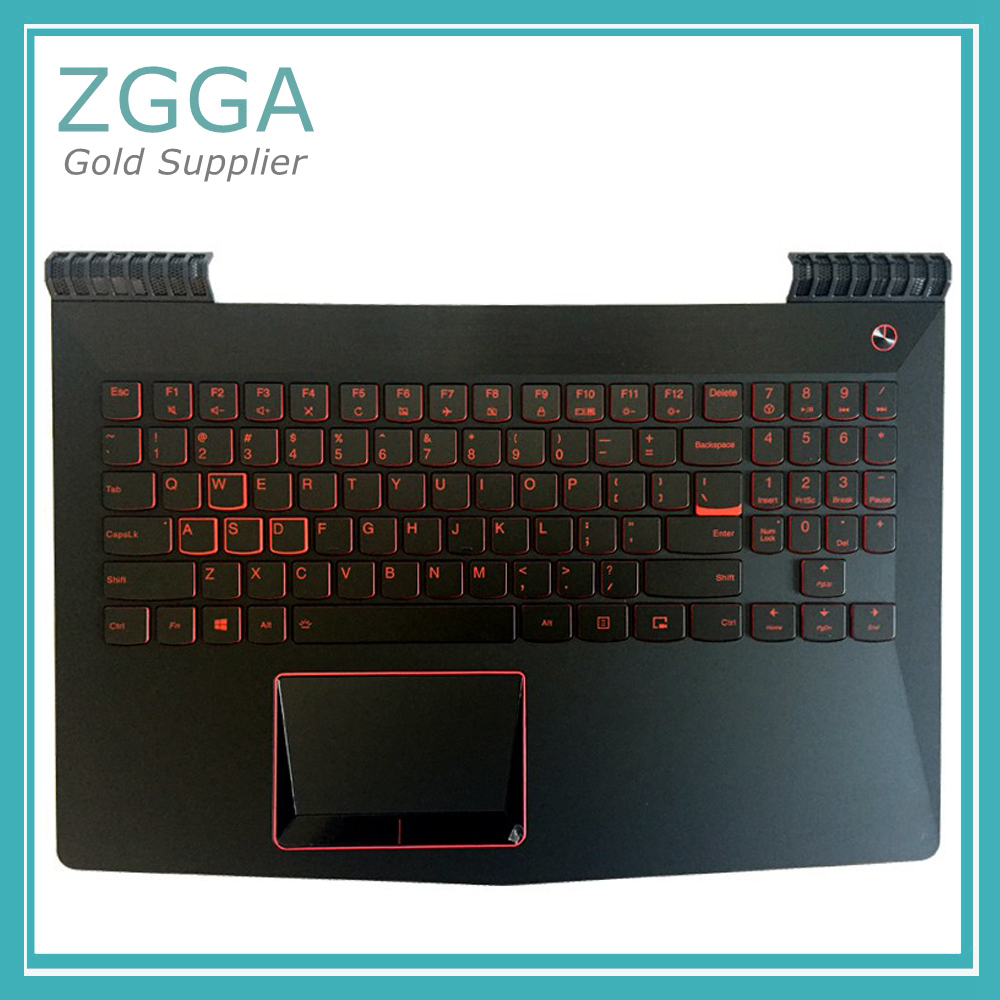 Laptop Top Cover For Lenovo Y520 R720 R720-15 R720-15IKB Palmrest W/US English Layout Backlit Keyboard Touchpad AP13B000300 UK new for lenovo y520 r520 r720 palmrest cover laptop bottom base case cover