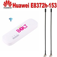 Lot of 100pcs Unlocked Huawei E8372 plus 5dbi pair antenna Wingle LTE Universal 4G USB Modem car wifi