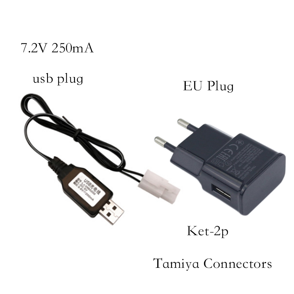 <font><b>7.2V</b></font> 250mAh ket-2p USB Battery Charger Units For NiCd <font><b>NiMH</b></font> battery pack charger For RC toy car tank boat 7.2 v <font><b>Tamiya</b></font> Charger image