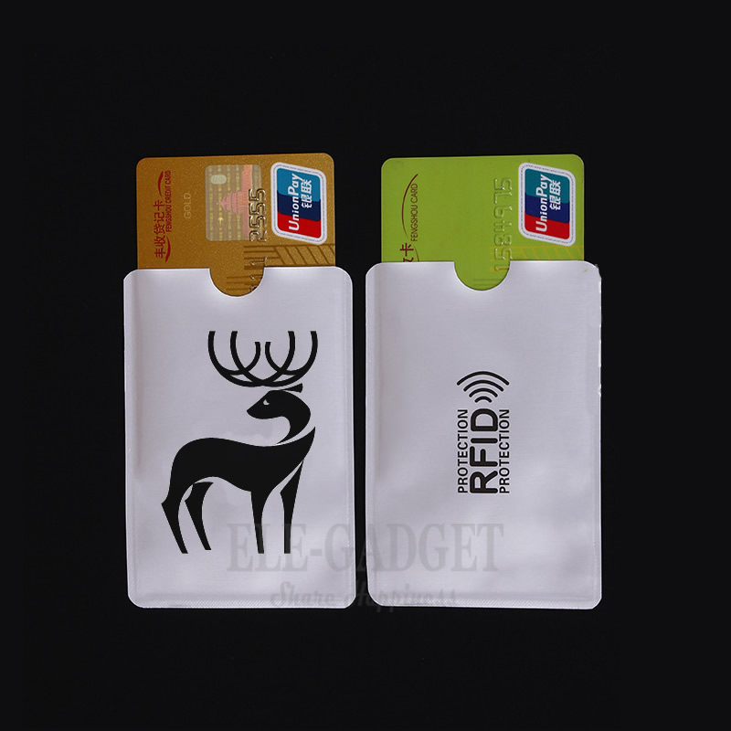 10 Pcs Portable Deer Anti-Scan Card Sleeve Credit RFID Card Protector Anti-magnetic Aluminum Foil Bank Card Holder