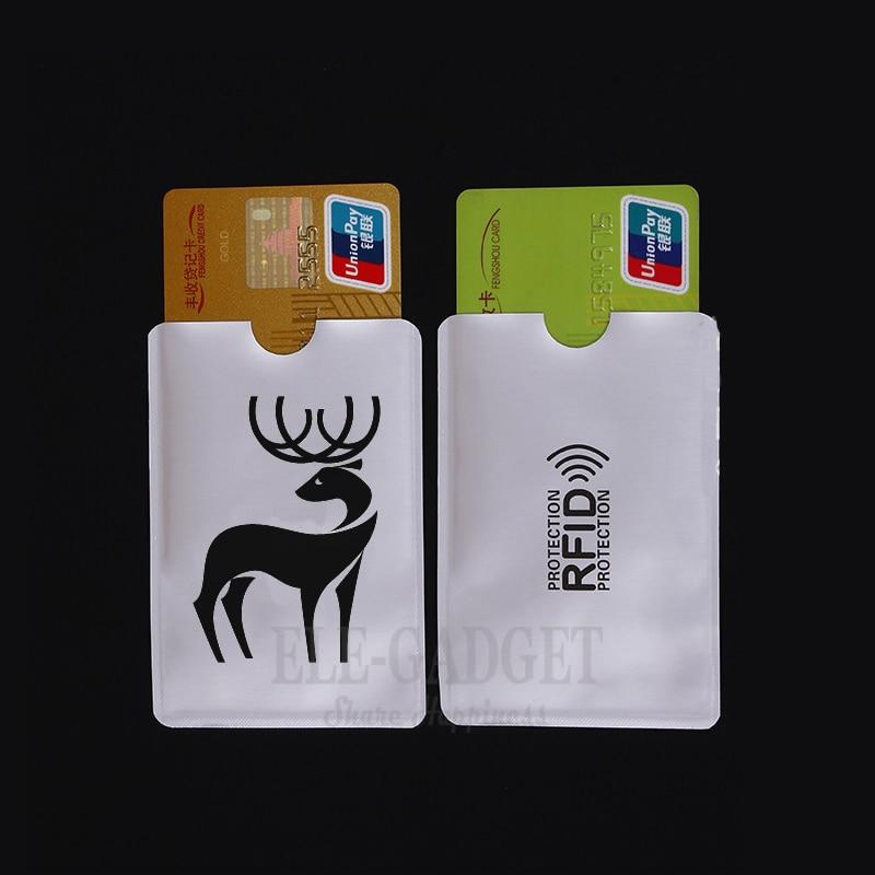 10 Pcs Portable Deer Anti-Scan Card Sleeve Credit RFID Card Protector Anti-magnetic Aluminum Foil Bank Card Holder