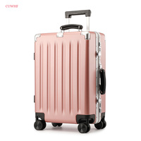 Silent caster Rolling Luggage Travel Suitcase Carry On Check in Trolley Case Bag 4 Wheels Spinner Hard Shell ABS+PC 20 24 Inch