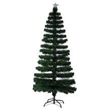 New DIY Indoor Outdoor Four LED Color Changing LED Fiber Optic Lights Tall Ornament Christmas Tree Beautiful Decoration EU Plug