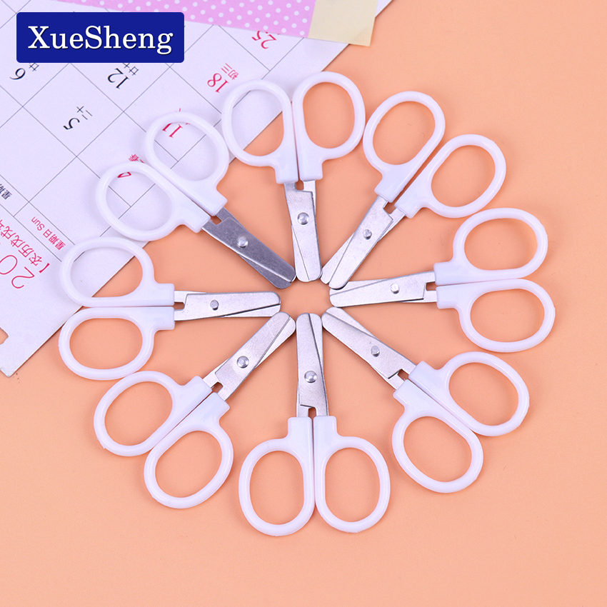 Mini Stainless Steel Household Scissors Office Paper Cut Scissors Sharp Shears Students DIY Scissor Cutting Tool