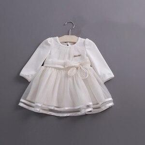 Image 3 - Detaliczna wiosna łuk koronkowa sukienka dziewczynek słodkie dziecko niemowlę koronkowa suknia balowa dziewczyna sundress księżniczka sukienka 3 kolor