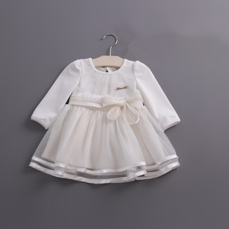 Image 3 - Retail spring bow lace dress baby girls cute baby infant lace dress ball gown girl sundress princess dress 3 colorinfant lace dresslace dress baby girldress baby -
