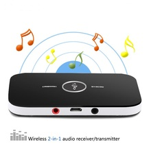 2 In 1 Wireless Bluetooth Transmitter & Receiver 4.1 Portable Transmitter Audio Music Adapter For Speaker MP3 3.5MM ports AUX biurlink wireless bluetooth module aux in audio mp3 music adapter 12pin connector for vw for skoda