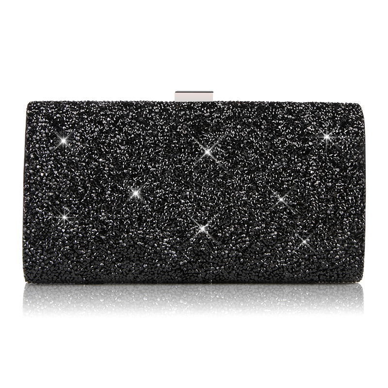 FGGS-Woman Evening bag Women Diamond created Rhinestone Clutch Crystal Day Clutch Wallet Wedding Purse Party Banquet, Silver woman evening bag for cocktail gold diamond rhinestone clutch bag crystal day clutch wallet wedding purse party banquet bag