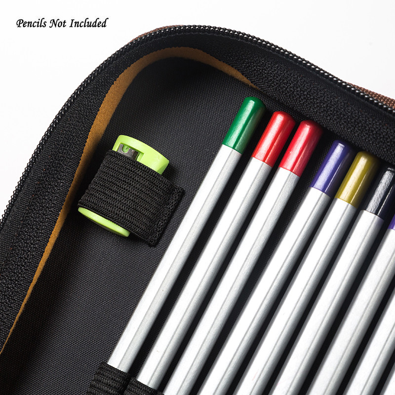 Image 5 - 160 Hole Folding PU Leather School Pencils Case Large Capacity Portable Pencil Bag For Colored Pencil Gel Pen Case Art Supplies-in Pencil Cases from Office & School Supplies