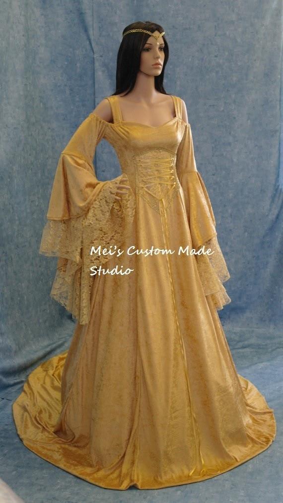 Custom Made Renaissance medieval handfasting fantasy wedding Gown ...