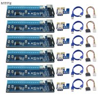 6pcs USB 3 0 PCI E Riser Express 1X 4x 8x 16x Extender Riser Adapter Card