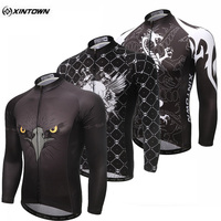 XINTOWN 2017 Team Polyester Sport Wear Ropa Ciclismo Outdoor Long Sleeve Bike Bicycle Shirts Tops Men's Cycling Jersey Race Fit