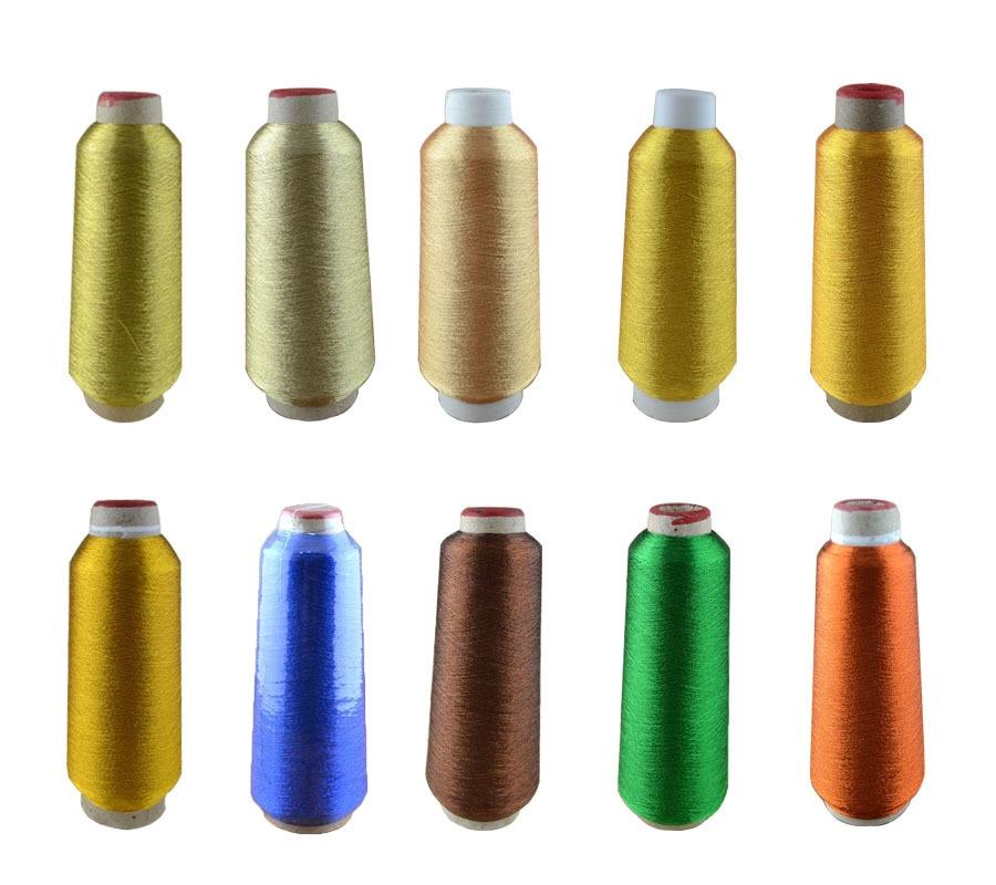 Fio metálico Grande cone, 3000Y fios metálicos, 20 cores metallic linha do bordado, para máquina de bordar frete Grátis