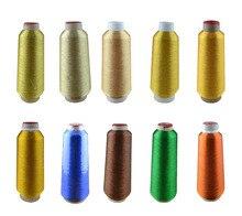 Metallic yarn Big cone, 4000M threads metallic , 20colors embroidery thread,for machine Shipping free