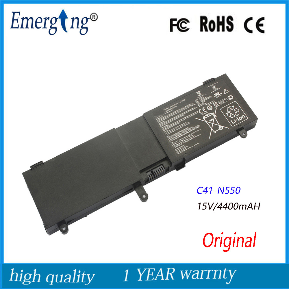 Original 15V 59Wh New Laptop Battery for ASUS N550 N550J N550JA N550JV N550JK Q550L Q550LF N550X47JV G550JK G550JKC41-N550 15 6 for asus n550j n550jv n550ja n550lf laptop digitizer touch screen glass free shipping
