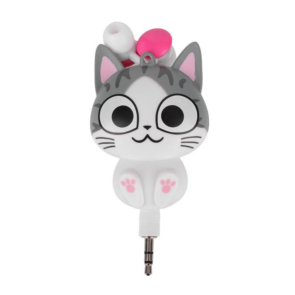 Girls retractable earphones for girls - headphones with microphone girls
