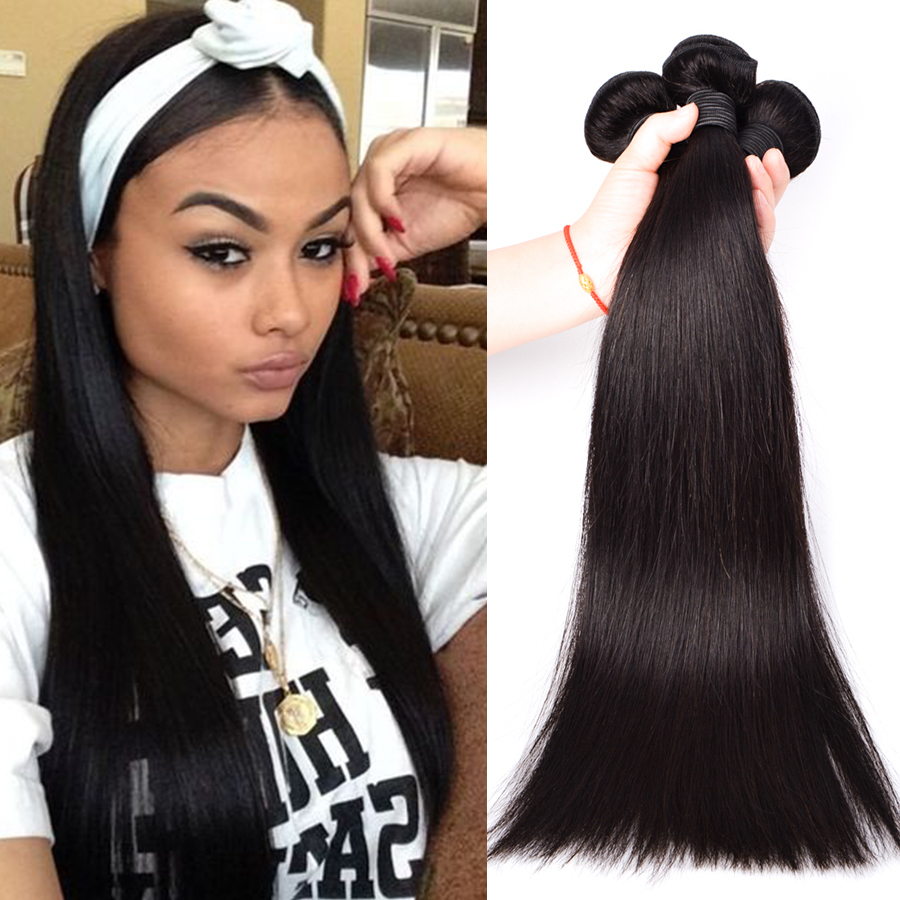 Brazilian Straight Human Hair Weave 8