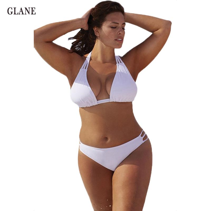 Сексуальные женщины плюс Размер купальники цельный большой размер повязки бикини Холтер мягкий треугольник купальник ХL-Размер 4xl