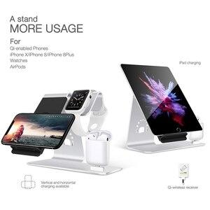 Image 5 - Szybka bezprzewodowa ładowarka 3 w 1 dla iPhone Xs/Apple Watch/Airpods bezprzewodowe ładowanie dla iPhone XsMas/Xr/8plus Samsung S9 S8