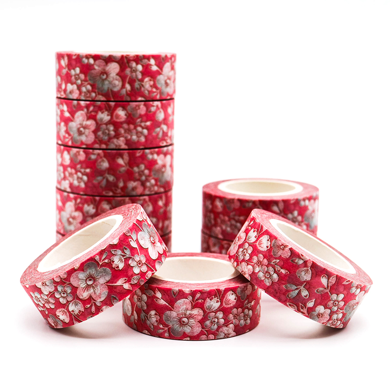 10m*15mm Creative Sakura Washi Tape Pattern Masking Tape Decorative Scrapbooking DIY Office Adhesive Tape 1 PCS