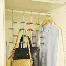 CSS Neue 4-Hooks Handtasche Tasche Halter Regal Kleiderbügel Hängend Rack Speicherorganisator rear door Grün
