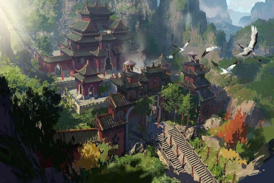 [Obrazek: DIY-frame-Chinese-Ladder-Berg-Tempel-Lan...e-Foto.jpg]