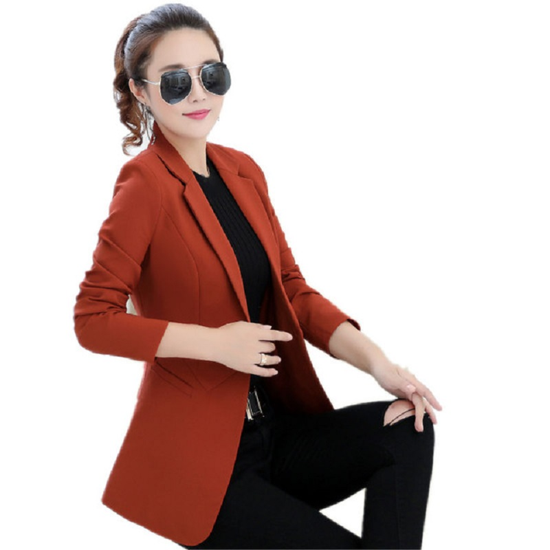 Fashion Women Basic Coats Spring Autumn Blazer Feminino Small Suit Jacket Women Ladies Blazers Plus Size Blazer Jackets Y927