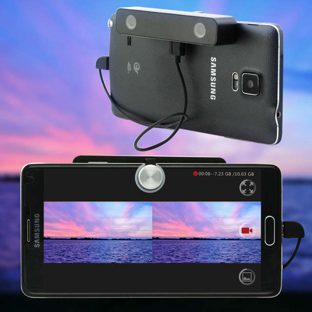 US $64 99 35% OFF|3D video camera 2017 new arrival android mobile connected  side by side video free download app black color mini HD VR 3D camera-in
