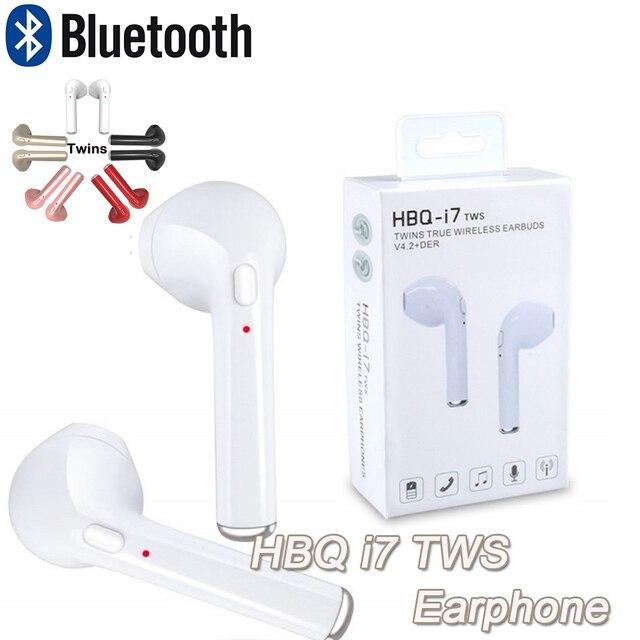 5de865bd653 Twins True Wireless Bluetooth Stereo In-Ear Earphone Earbuds HBQ i7 TWS  IN-EAR for iphone X 8 8 8plus for all Smartphone